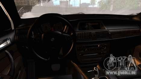 BMW X5M 2014 E-Tuning pour GTA San Andreas vue arrière