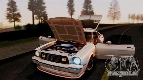 Ford Mustang King Cobra 1978 pour GTA San Andreas vue de côté