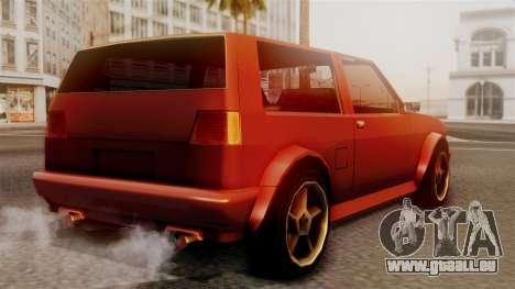 Club New Edition pour GTA San Andreas laissé vue