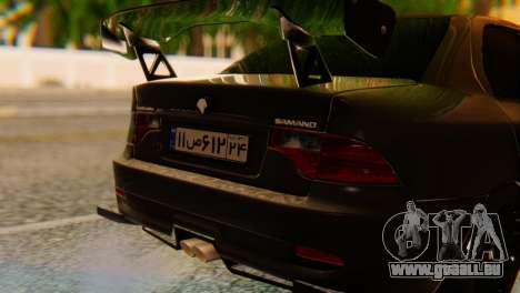 Ikco Samand Sooren Tuned pour GTA San Andreas vue arrière