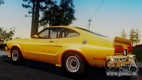 Ford Mustang King Cobra 1978 für GTA San Andreas Innen