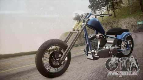 LCC Hexer GTA 5 HQLM pour GTA San Andreas vue de droite