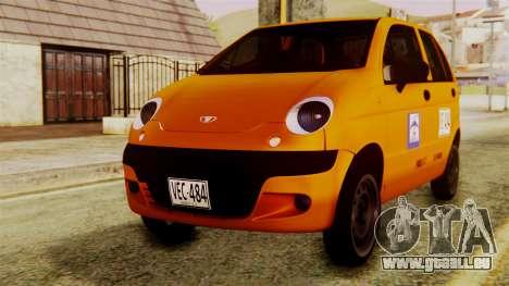 Daewoo Matiz Taxi pour GTA San Andreas