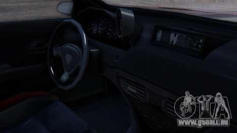 Benefactor Schwartzer Racecar für GTA San Andreas rechten Ansicht