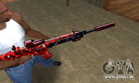 Red Leopard M4 für GTA San Andreas