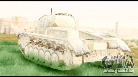 Panzerkampwagen II Desert pour GTA San Andreas laissé vue