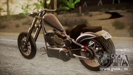 LCC Hexer GTA 5 IVF pour GTA San Andreas laissé vue