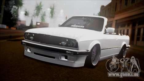 BMW E30 Cabrio B. O. Bau für GTA San Andreas Rückansicht