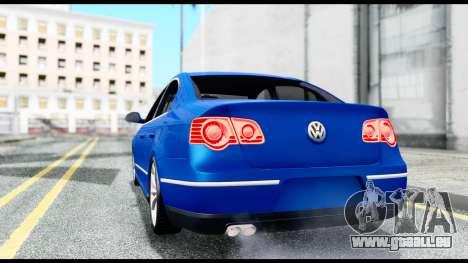 Volkswagen Passat B6 pour GTA San Andreas sur la vue arrière gauche
