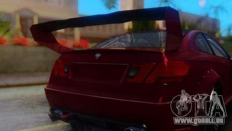 Benefactor Schwartzer Racecar pour GTA San Andreas vue arrière