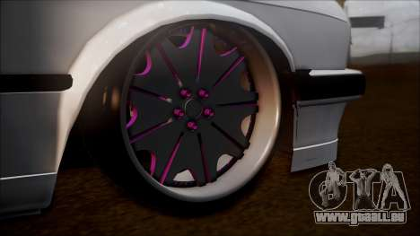 BMW E30 Cabrio B. O. de la Construction pour GTA San Andreas sur la vue arrière gauche