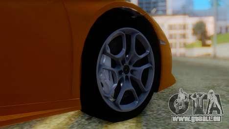 Lamborghini Huracan 2015 Horizon Wheels pour GTA San Andreas sur la vue arrière gauche