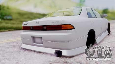 Toyota Mark 90 pour GTA San Andreas laissé vue