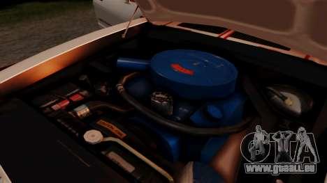 Ford Mustang King Cobra 1978 pour GTA San Andreas vue de dessus
