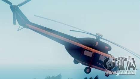 PZL W-3A Sokol pour GTA San Andreas sur la vue arrière gauche