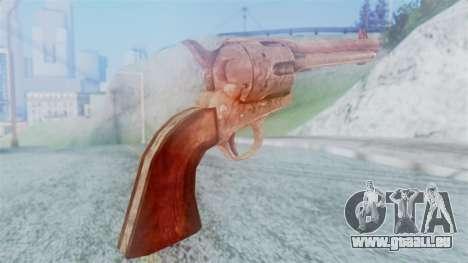 Red Dead Redemption Revolver Cattleman pour GTA San Andreas deuxième écran