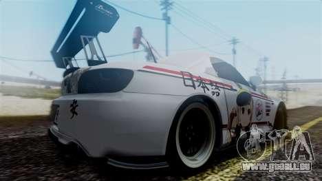 Honda S2000 Tuned Mugi Itasha für GTA San Andreas zurück linke Ansicht