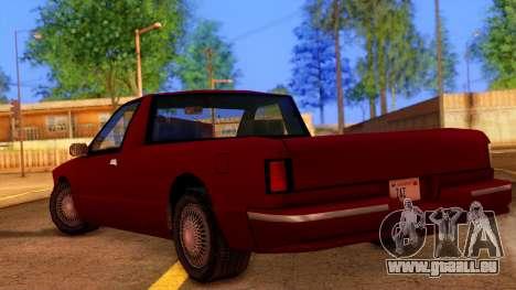 Premier Pickup pour GTA San Andreas laissé vue