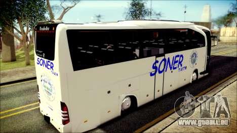 Mercedes-Benz Travego Soner Turizm pour GTA San Andreas sur la vue arrière gauche