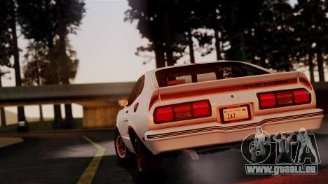 Ford Mustang King Cobra 1978 pour GTA San Andreas vue de droite