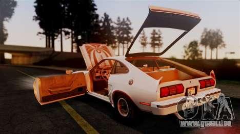Ford Mustang King Cobra 1978 pour GTA San Andreas vue de dessous