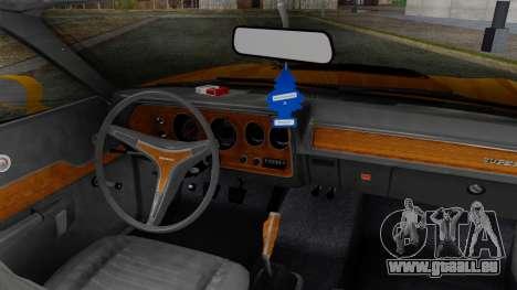 Dodge Charger Super Bee 426 Hemi (WS23) 1971 pour GTA San Andreas sur la vue arrière gauche