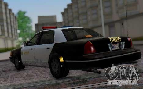 Ford Crown Victoria Sheriff pour GTA San Andreas laissé vue