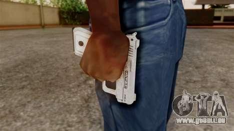 GTA 5 SNS Pistol pour GTA San Andreas troisième écran