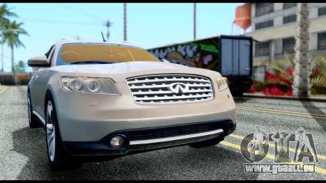 Infiniti FX45 für GTA San Andreas rechten Ansicht