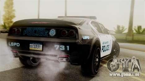 Hunter Citizen from Burnout Paradise Police LS für GTA San Andreas linke Ansicht