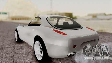 Alfa Romeo Nuvola pour GTA San Andreas sur la vue arrière gauche