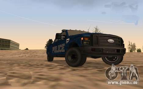 Ford F-250 Incident Response für GTA San Andreas zurück linke Ansicht