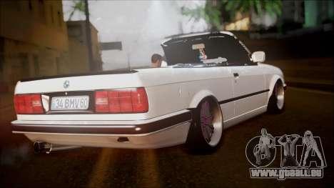 BMW E30 Cabrio B. O. Bau für GTA San Andreas linke Ansicht