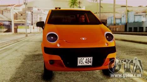 Daewoo Matiz Taxi pour GTA San Andreas vue de droite