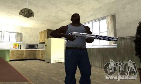 Black Lines Shotgun pour GTA San Andreas troisième écran