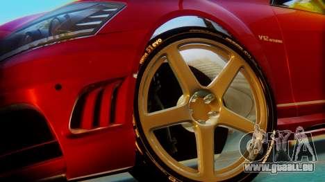 Mercedes-Benz S65 pour GTA San Andreas sur la vue arrière gauche
