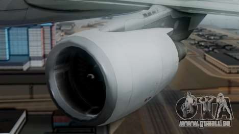 Airbus A320-200 Pan American World Airlines für GTA San Andreas Rückansicht