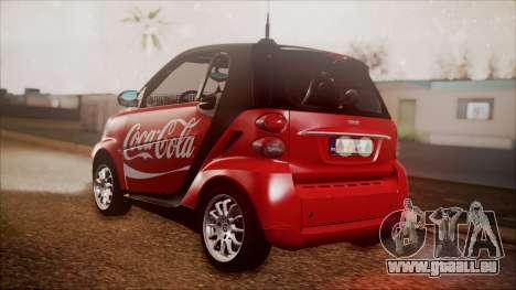 Smart ForTwo Coca-Cola Worker für GTA San Andreas linke Ansicht