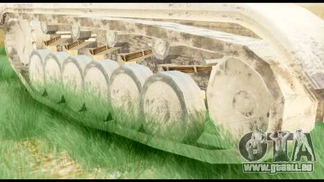 Panzerkampwagen II Desert für GTA San Andreas zurück linke Ansicht