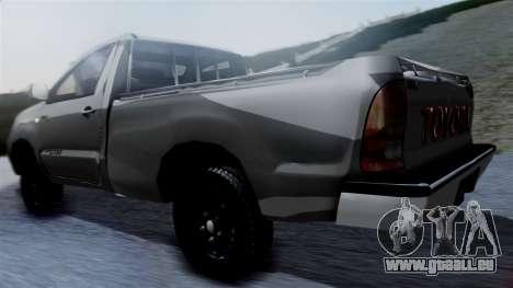 Toyota Hilux 2015 pour GTA San Andreas laissé vue