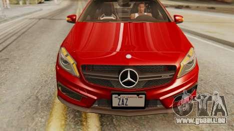 Mercedes-Benz A45 AMG 2012 pour GTA San Andreas vue de droite