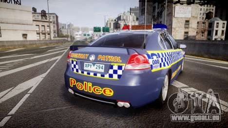 Holden VE Commodore SS Highway Patrol [ELS] v2.1 pour GTA 4 Vue arrière de la gauche