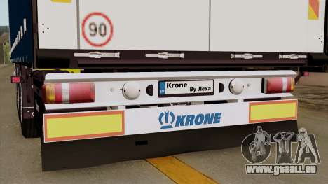 Trailer Krone Profiliner v1 pour GTA San Andreas vue arrière