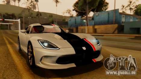 Dodge Viper SRT GTS 2013 IVF (HQ PJ) HQ Dirt für GTA San Andreas Unteransicht