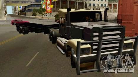 Flat Trailer pour GTA San Andreas sur la vue arrière gauche