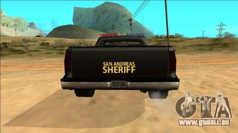 New Yosemite Police v2 pour GTA San Andreas vue de dessus