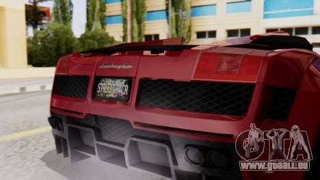 Lamborghini Gallardo J Style für GTA San Andreas Rückansicht