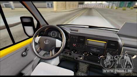 GAZelle 3221 2007 Endgültig für GTA San Andreas Rückansicht