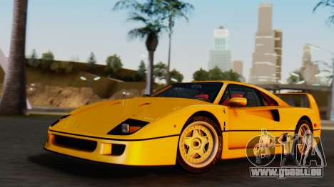 Ferrari F40 1987 without Up Lights pour GTA San Andreas