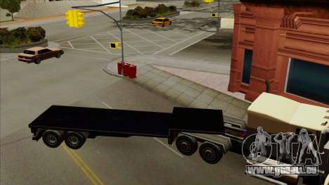 Flat Trailer pour GTA San Andreas laissé vue